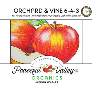 Peaceful Valley Organics Orchard and Vine 6-4-3 (25 lb)