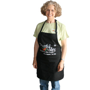 Peaceful Valley's Organic Black Cotton Apron