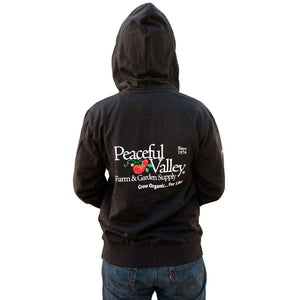Peaceful Valley Hooded Zipper Sweatshirt - Large (Black)