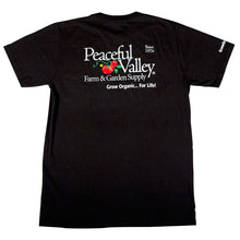 Load image into Gallery viewer, Peaceful Valley's Organic Black T-Shirt (Medium)