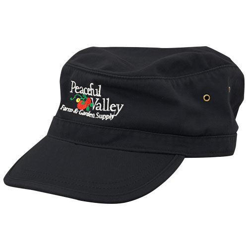 Peaceful Valley Organic Corps Hat (Black)