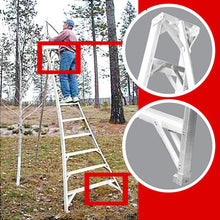 Load image into Gallery viewer, Aluminum Orchard Ladder (10')
