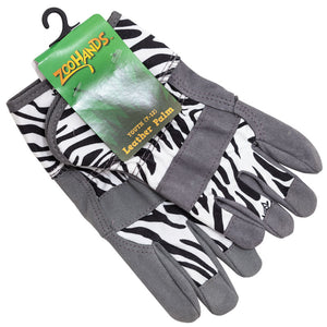Kid's Gloves, Zebra, Youth 7-12