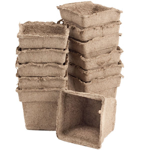 "CowPots - 4"" Square (Pack of 12)"