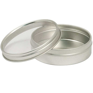 Round Seed Saver Tin With Window Lid - 2 oz