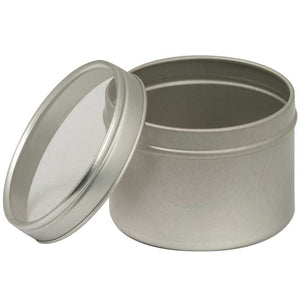 Round Seed Saver Tin With Window Lid - 4 oz
