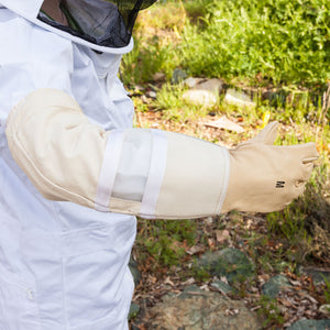Beekeeping Leather Gloves with Vent (Small)