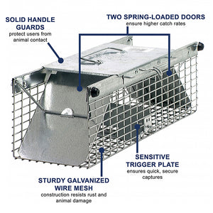"Havahart Trap - Model 1 (18""x5""x5"")  For Chipmunks, Rats, Squirrels or Weasels"