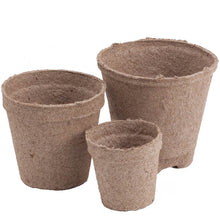 Load image into Gallery viewer, Jiffy Peat Round Pots - 4""