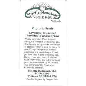 Strictly Medicinal Organic Munstead Lavender