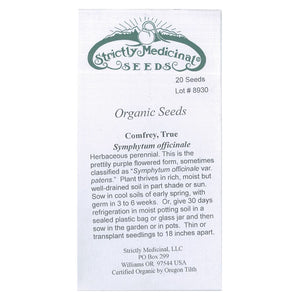 Strictly Medicinal Organic True Comfrey
