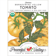 Load image into Gallery viewer, Organic Tomato, Brandywine Yellow