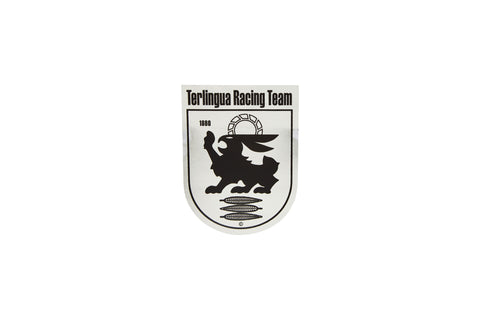 Limited Edition Chrome Terlingua Racing Team Shield Fender Decal-Small