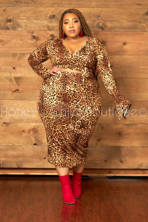 Sheetah Animal Print Skirt Set-300 Sets, Dressy-Sexy Diva-[plus_size]-Honey's Child Boutique