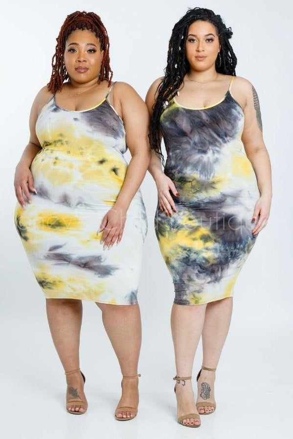 Ride or Tie Dye Midi Dress