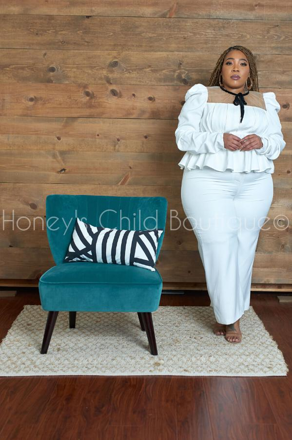 Wild Wild West Peplum Pants Set-300 Sets, Dressy-Latiste-[plus_size]-Honey's Child Boutique