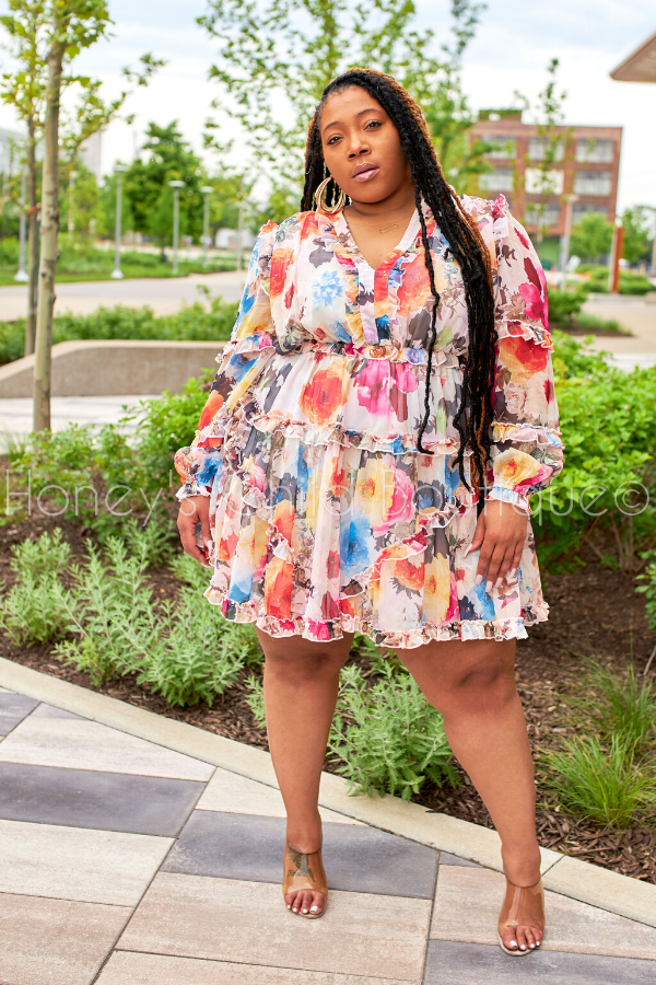 I Choose You Floral Skater Dress-Dress-Latiste-[plus_size]-Honey's Child Boutique