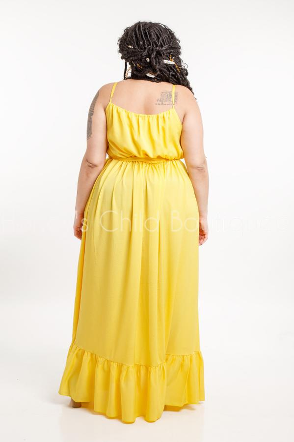 Bella Ruffle Hem Maxi Dress-211 Maxi Casual-Sexy Diva-[plus_size]-Honey's Child Boutique
