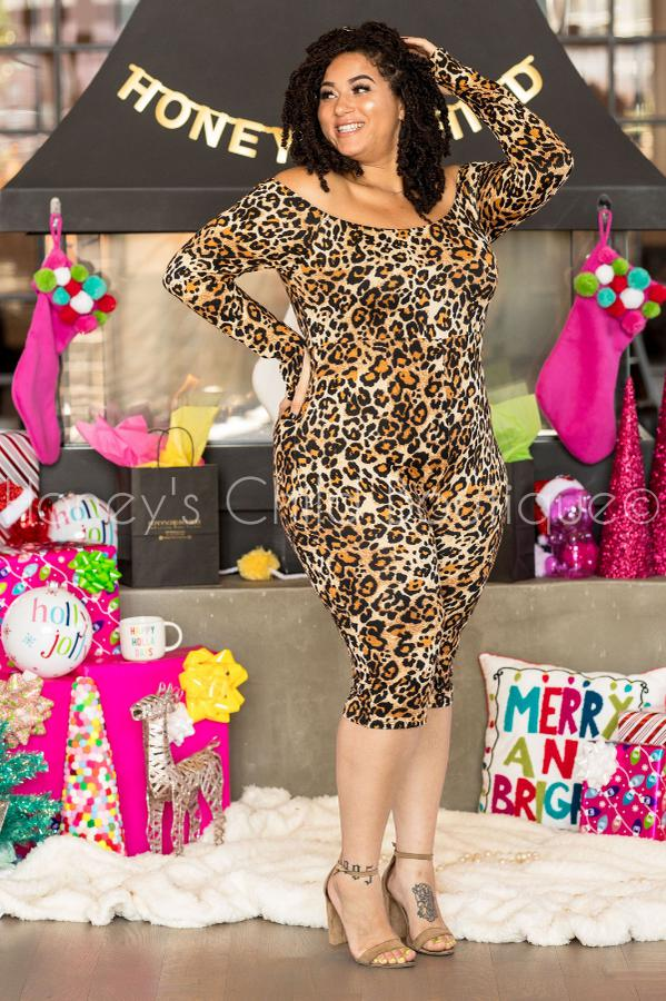 Let's Go Kitty Cheetah Print Romper-400 Romper/Jumpsuits-Sexy Diva-[plus_size]-Honey's Child Boutique