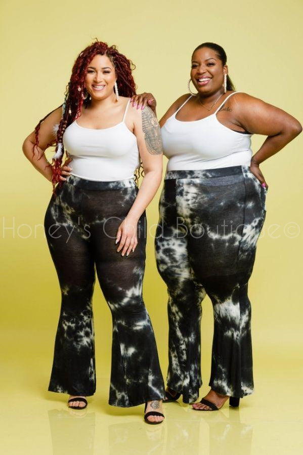 Wake Up in the Sky Bell Bottoms-600 Bottoms-Solid JK-[plus_size]-Honey's Child Boutique