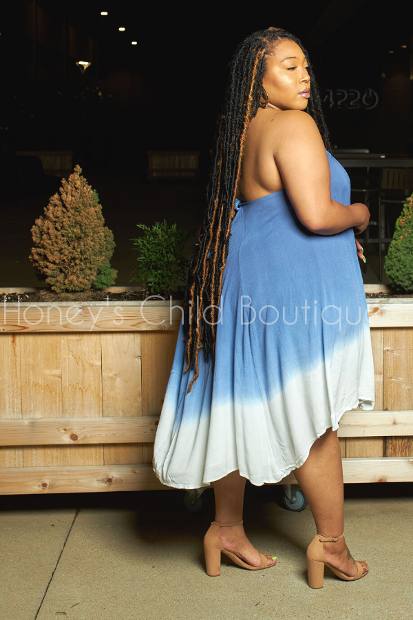 Fresh Air Ombre Tie Dye Swing Dress-Dress-Davi & Dani-[plus_size]-Honey's Child Boutique