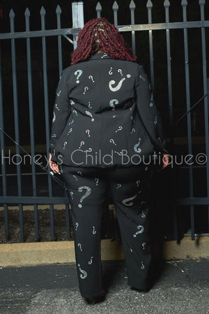 Ask Me Anything Rhinestone Pants Suit in Black-set-Latiste-[plus_size]-Honey's Child Boutique