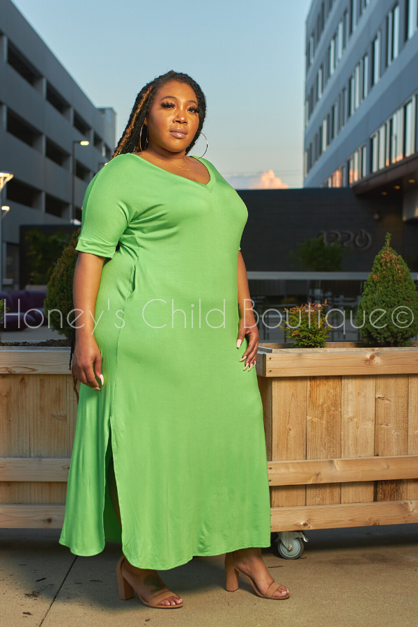 Lazy Monday T-Shirt Maxi Dress-Dress-Sexy Diva-[plus_size]-Honey's Child Boutique