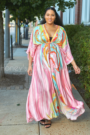 Coastal Kimona Maxi Dress-Dress-Latiste-[plus_size]-Honey's Child Boutique