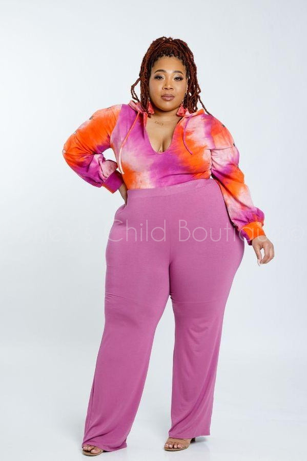 Vibes Tie Dye Hoodie-500 Tops, Casual-K Too-[plus_size]-Honey's Child Boutique