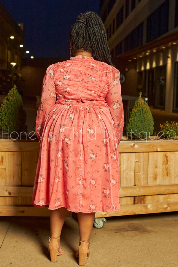 Sunday Brunch Floral Fit & Flare Midi Dress-Dress-Latiste-[plus_size]-Honey's Child Boutique