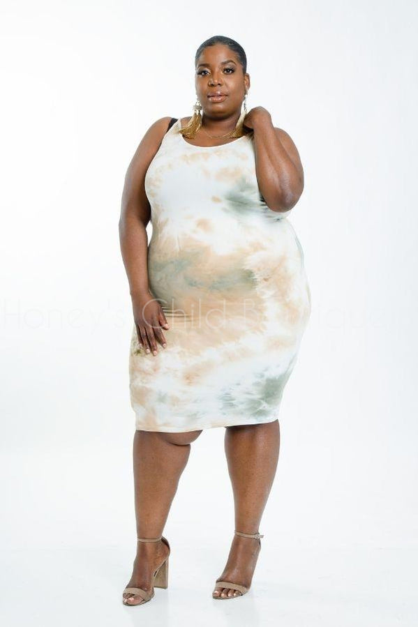 Ride or Tie Dye Midi Dress-Honey's Child Boutique-[plus_size]-Honey's Child Boutique