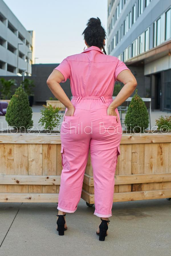 Pink Panther Denim Jumpsuit - RESTOCKED!-Jumpsuit-Latiste-[plus_size]-Honey's Child Boutique