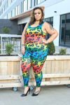 Catwalk Multi Color Animal Print Jumpsuit-Jumpsuit-Highlight-[plus_size]-Honey's Child Boutique