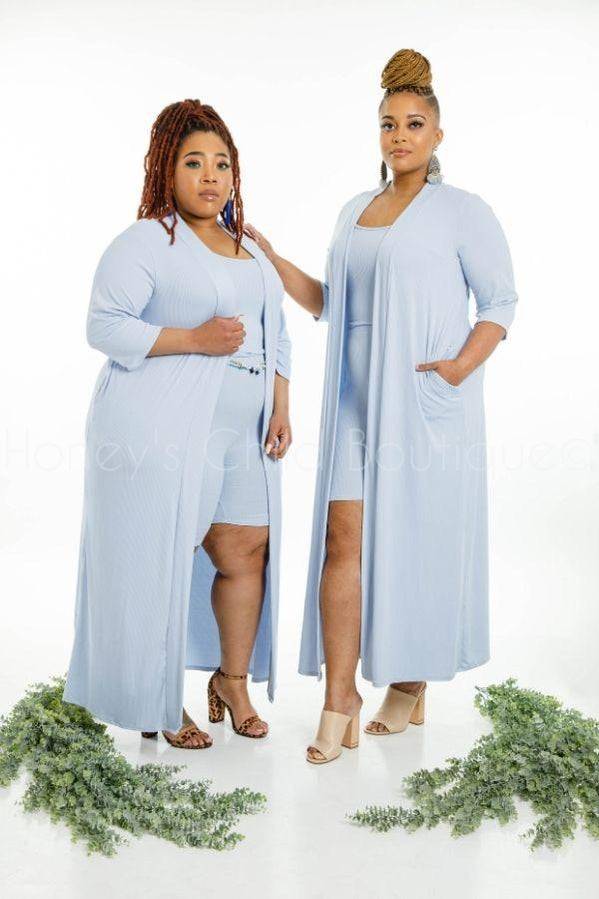 Cool Out Shorts & Duster Set-310 - Sets/Casual-Sexy Diva-[plus_size]-Honey's Child Boutique