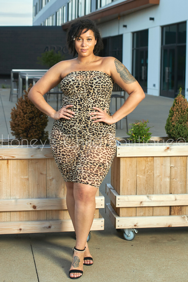 Paparazzi Ruched Midi Skirt - Leopard-Skirt-The Curve LA-[plus_size]-Honey's Child Boutique