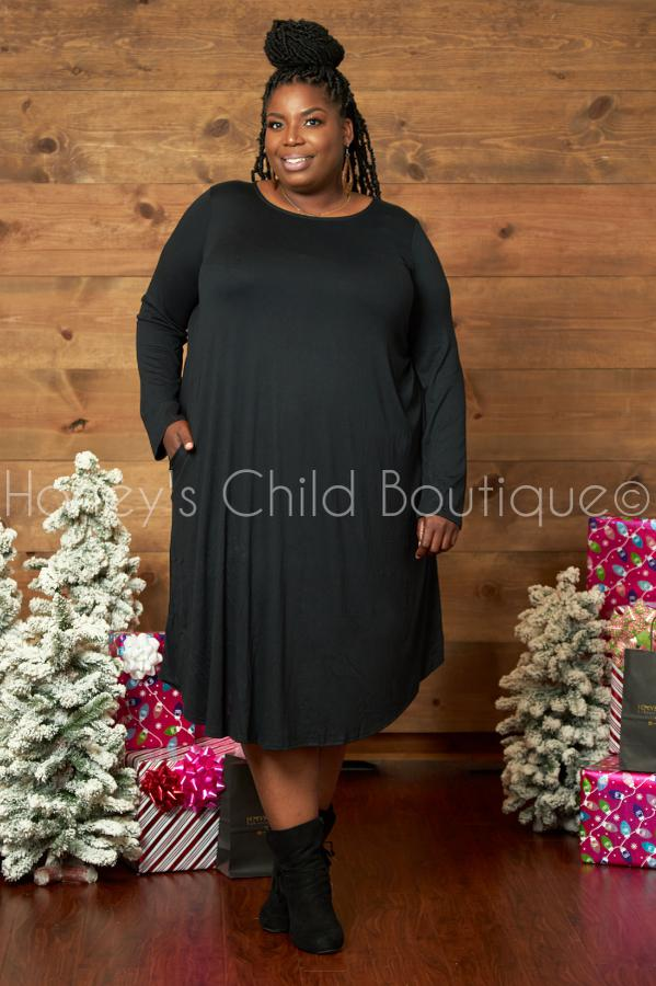 Simplicity Swing Dress-Honey's Child Boutique-[plus_size]-Honey's Child Boutique