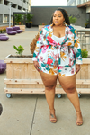 Flora Ave. Shorts & Blazer Set-set-Latiste-[plus_size]-Honey's Child Boutique