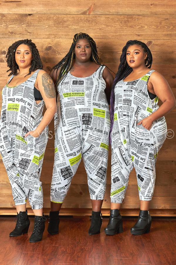 Read All About It Harem Jumpsuit-400 Romper/Jumpsuits-The Curve LA-[plus_size]-Honey's Child Boutique