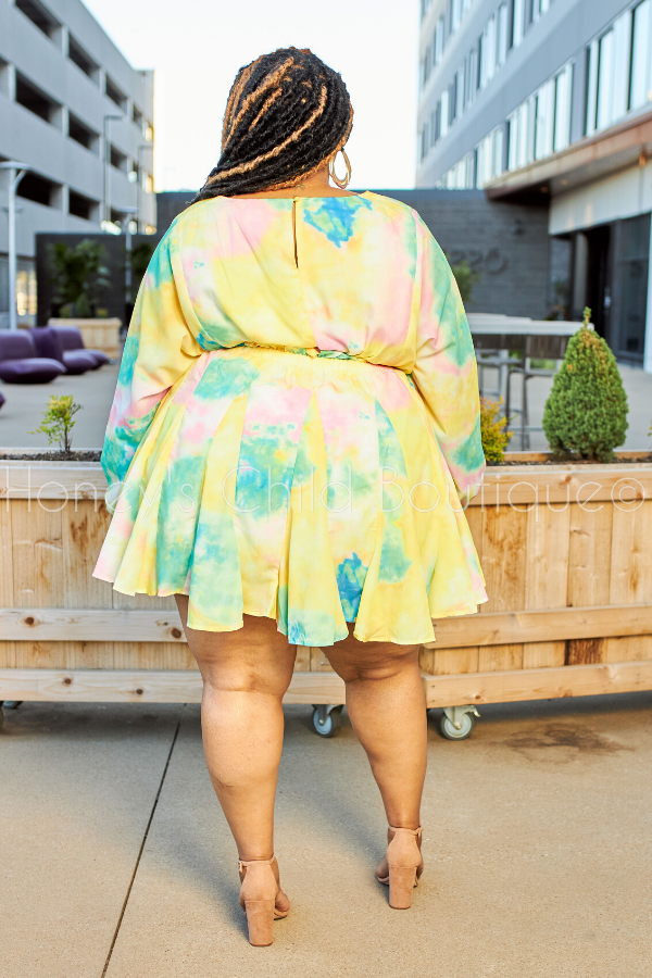Day Party Tie Dye Skater Dress-Dress-Latiste-[plus_size]-Honey's Child Boutique