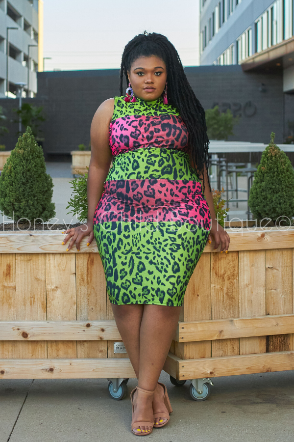 Pretty Cat Midi Dress-Dress-The Curve LA-[plus_size]-Honey's Child Boutique
