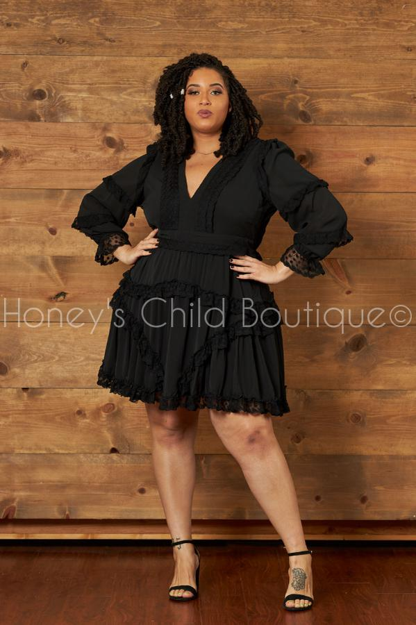 Lovely Day Frilly Skater Dress-230 - Skater Dress-Latiste-[plus_size]-Honey's Child Boutique