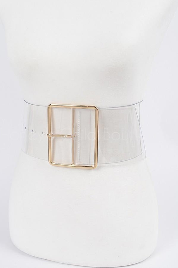 Clearly Cute Belt-Accessories, 100-Honey's Child Boutique-[plus_size]-Honey's Child Boutique