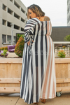 Coffee with Cream Dual Stripe Maxi * RESTOCKED*-Dress-eien-[plus_size]-Honey's Child Boutique