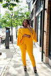 Golden Girl Bell Sleeve Jumpsuit