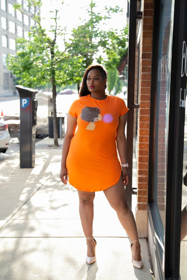 She Popping Tunic Dress