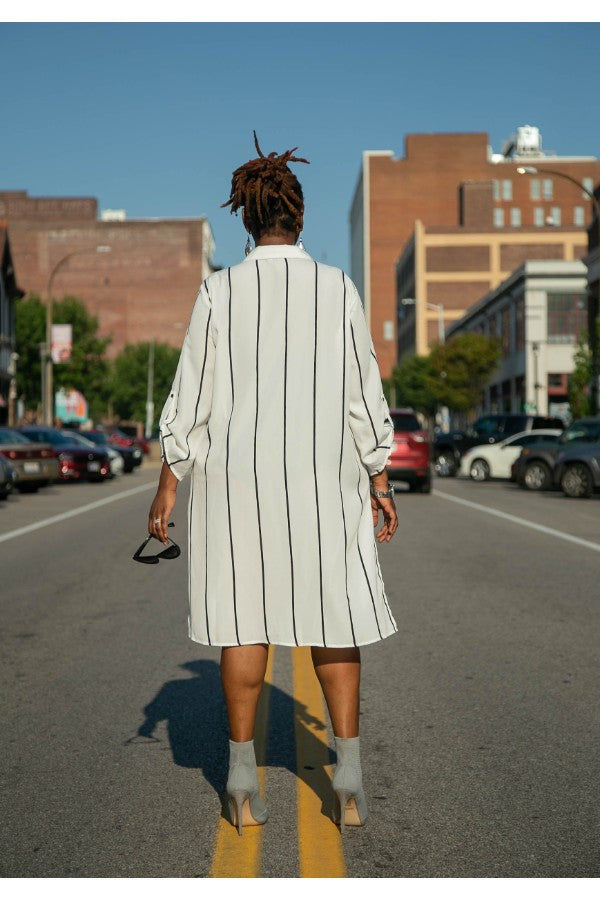 Le Minimalist Button Up Shirt Dress