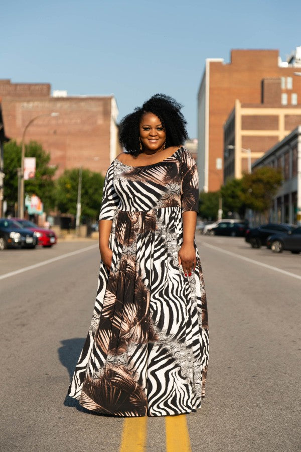 Safari Chic Maxi Dress 4x-6x