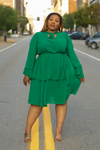 Essence Ruffle Skater Dress by Lee Bex
