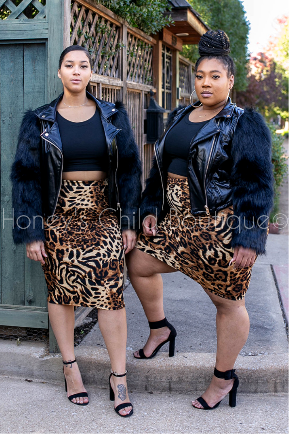 Ms. Mafia Leatherette an Faux Fur Moto Jacket
