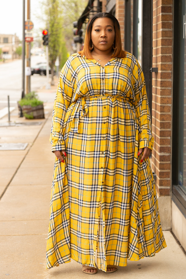 No Frauds Maxi Dress/Duster - Canary